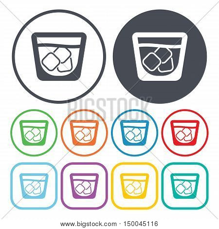 vector illustration of  cup with ice icon in simple style isolated on background. Stock vector symbol.