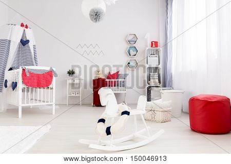 Chic and trendy nursery room- sea style space
