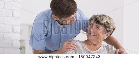 He Has Good Attitude For Elder Seniors