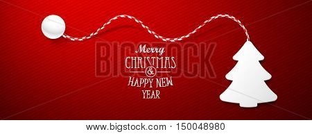 Christmas tree paper with shadow. Creative design vector