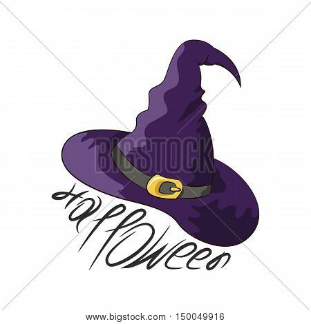 Magic hat witch a witch on halloween vector illustration