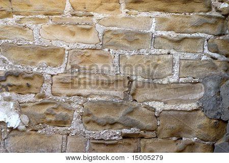 Old Damaged Stone Wall