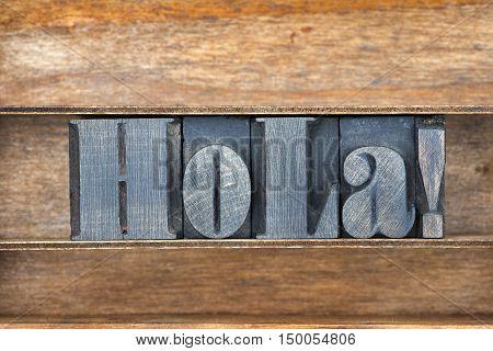 Hola Wooden Tray