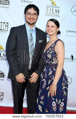 LOS ANGELES - SEP 30:  Reed Shusterman, Katina Meers at the Catalina Film Festival - Friday at the Casino on September 30, 2016 in Avalon, Catalina Island, CA