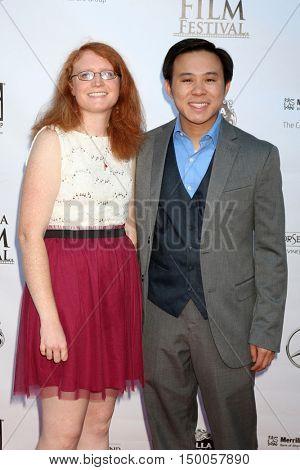 LOS ANGELES - SEP 30:  Catherine Cardinal, Joshua Hoh at the Catalina Film Festival - Friday at the Casino on September 30, 2016 in Avalon, Catalina Island, CA