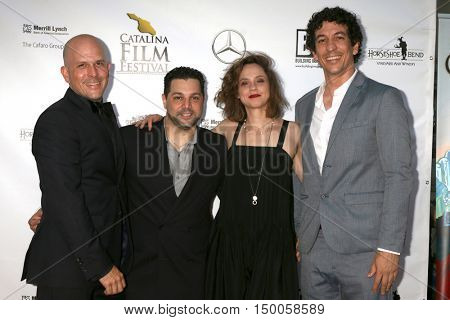 LOS ANGELES - SEP 30:  Adam Barder, Ron Truppa, Fiona Dourif, Mark Bemesderfer at the catalina Film Festival - Friday at the Casino on September 30, 2016 in Avalon, catalina Island, CA