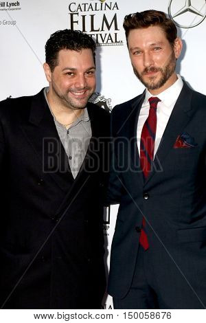 LOS ANGELES - SEP 30:  Ron Truppa, Michael Graziadei at the catalina Film Festival - Friday at the Casino on September 30, 2016 in Avalon, catalina Island, CA
