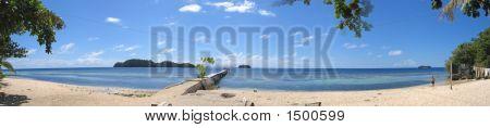 Beach Of Pulau Kadidiri, Togians Island, Sulawesi, Indonesia, Large Panorama