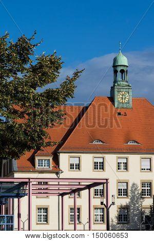 Feuerbach Rathaus Council House Stuttgart Germany Europe Architecture Building Exterior