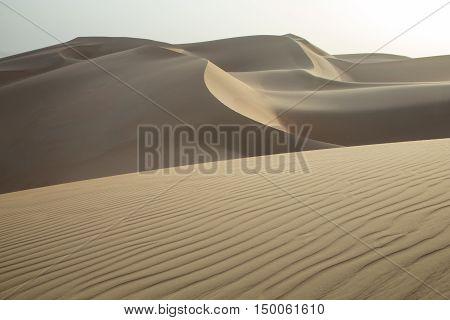 Massive sand dunes of Liwa desert in Abu Dhabi