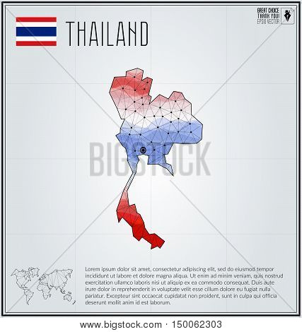 Vector y foto thailand map geometric polygonal bigstock thailand map in geometric polygonal style polygonal abstract world map vector illustration thailand gumiabroncs Images