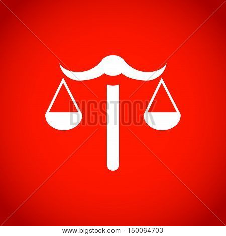 scales icon stock vector illustration flat design