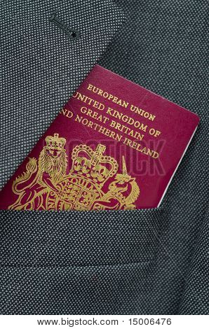 Business Travel Image Of A UK Passport