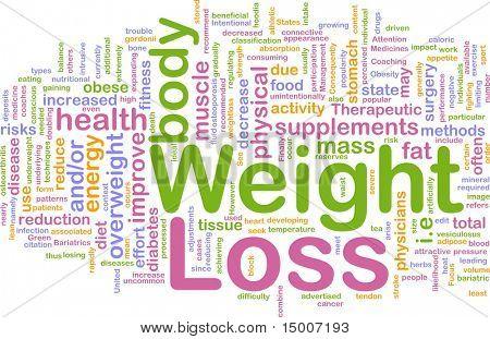 Abbildung von Hintergrund-Konzept von Weight Loss diet