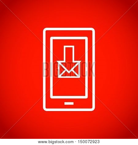 stock vector smartphone email or sms icon mobile mail sign simbol