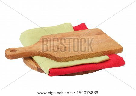 Board and napkin for the recipe food