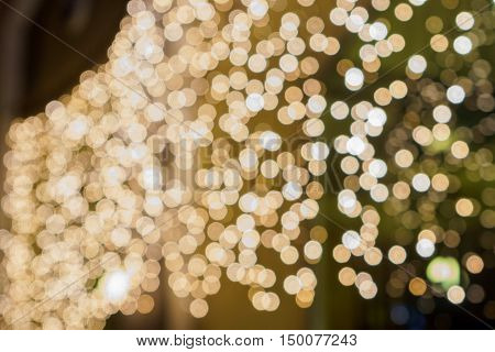 Lights On Bokeh As Background.