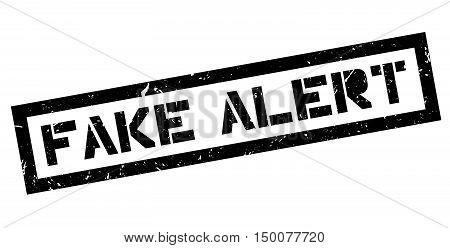 Fake Alert Rubber Stamp