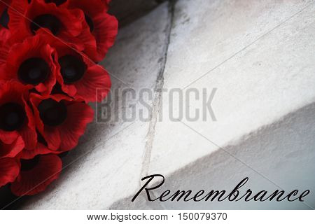 Abstract Creative Remembrance Day Greeting Card Scene