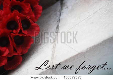 Abstract Creative Lest We Forget Remembrance Day Scene
