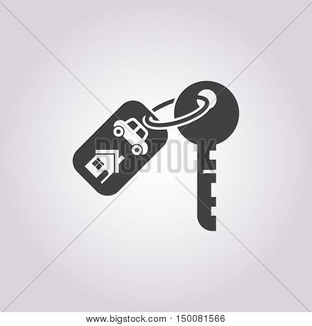keychain icon on white background for web