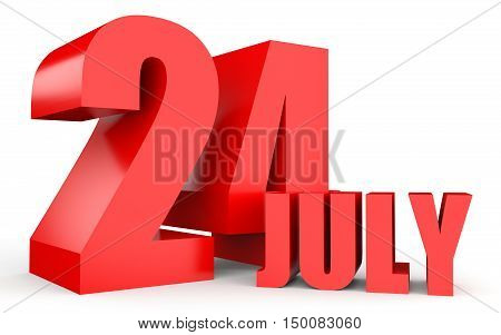 July 24. Text On White Background.