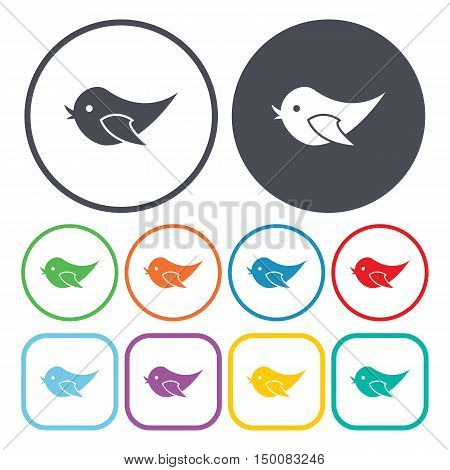 bird icon on white background for web