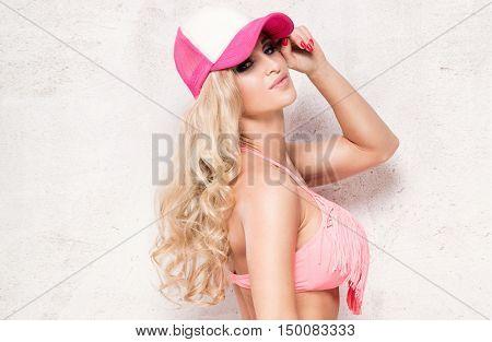 Portrait Of Blonde Girl.