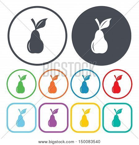pear icon on white background for web