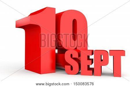 September 19. Text On White Background.