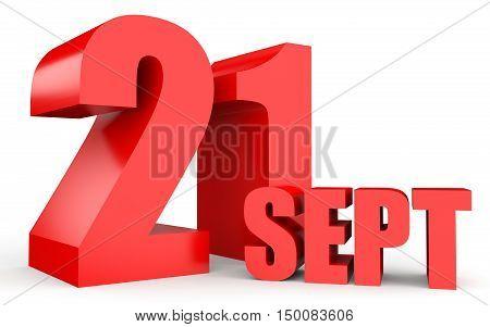September 21. Text On White Background.
