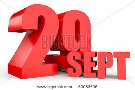 September 29. Text On White Background.