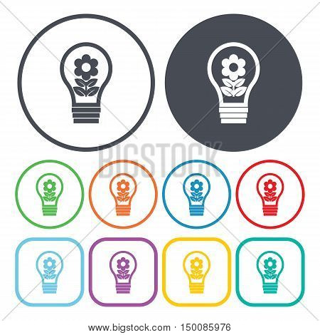 bulb icon on white background for web