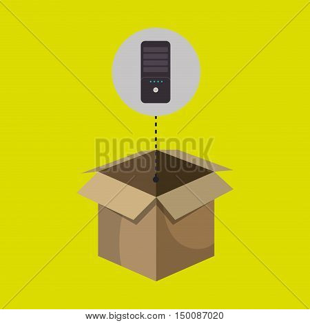 box control remote tv vector ilustration eps 10