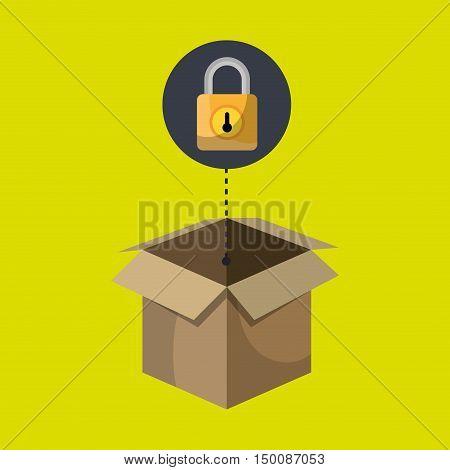 box padlock data secure vector illustration eps 10