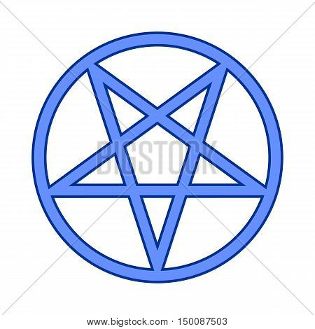 Pentagram symbol icon on white background. Vector illustration.