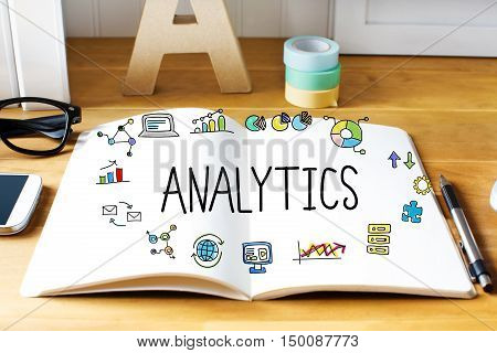 Analytics Concept With Notebook