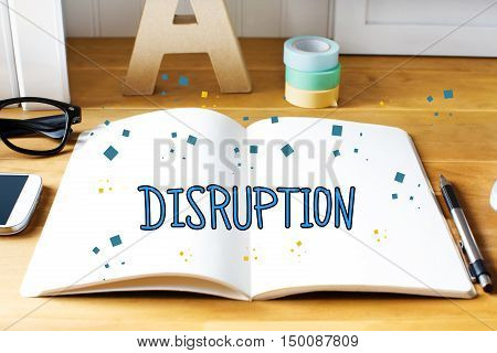 Disruption Concept With Notebook