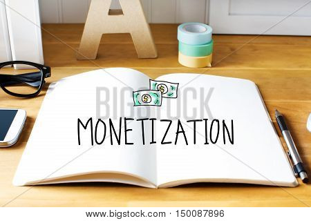 Monetization Concept With Notebook