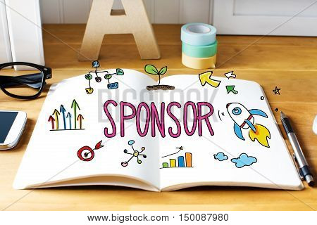 Sponsor Concept With Notebook