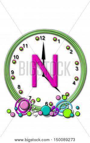 Alphabet Timeless N