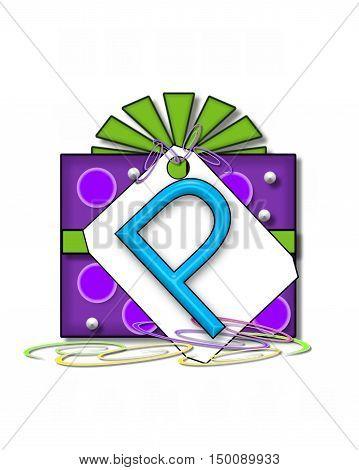 Alphabet Gift Wrapped P