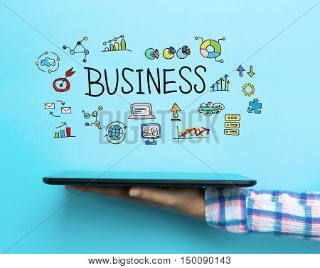 Business Concept With A Tablet