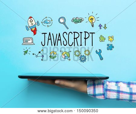 Javascript Concept With A Tablet