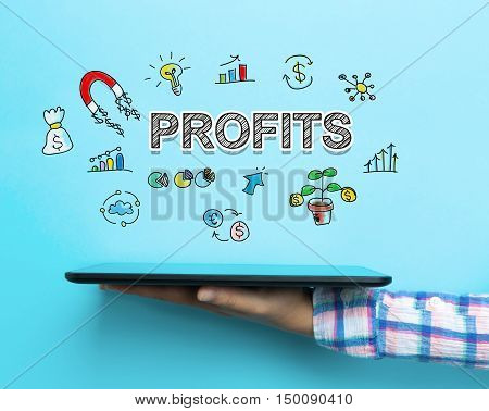 Profits Concept With A Tablet