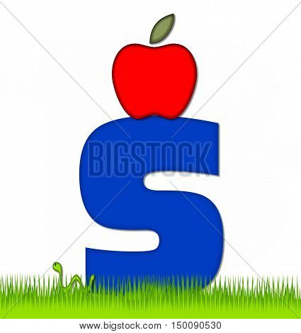 Alphabet Apple A Day Eaten Away S