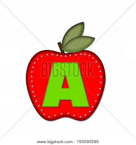 Alphabet Delicious Apple A
