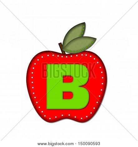 Alphabet Delicious Apple B