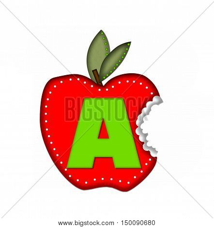 Alphabet Delicious Apple Bite A