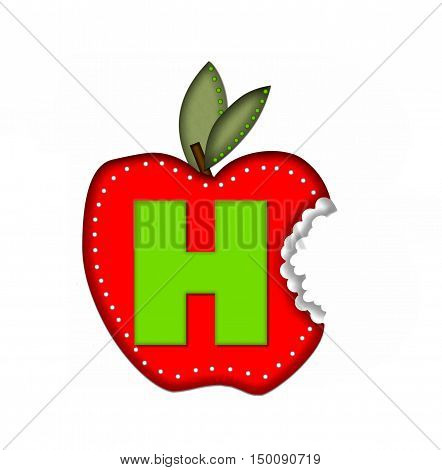 Alphabet Delicious Apple Bite H